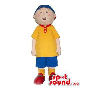 Boy Human Mascot Dressed In...