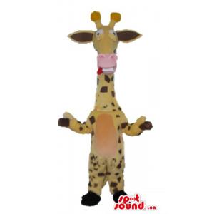 Pink nose surprised giraffa...