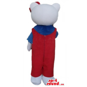 Hello Kitty in red suit...