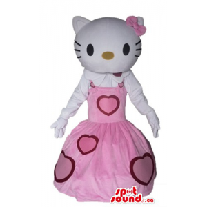 Hello Kitty in pink dress...