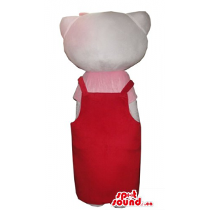 Hello Kitty in a red suite...