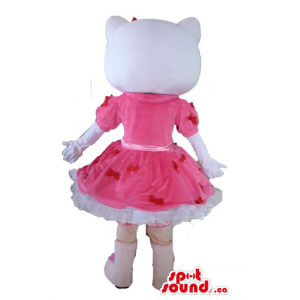 Hello Kitty in a pink dress...