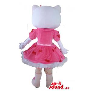 Olá Kitty em um vestido dos...