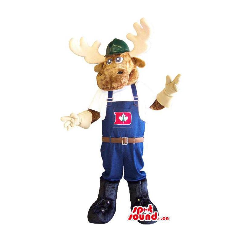 Deer Animal Mascot Dressed...
