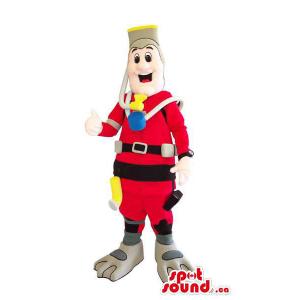 Human Mascot Dressed In...