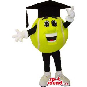 Yellow Tennis Ball Mascot...