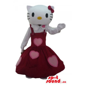Hello Kitty in red dress...