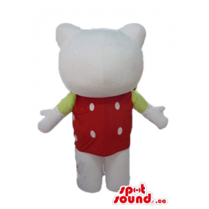 Hello Kitty in red shirt...