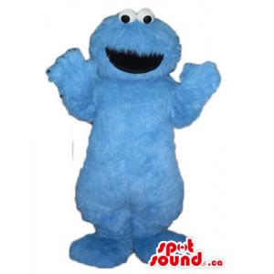 Blue monster Elmo cartoon...
