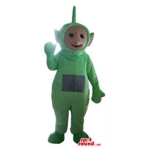 Green teletubby monster...