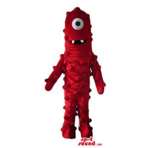 Muno one eyed monster cartoon character Mascot costume
