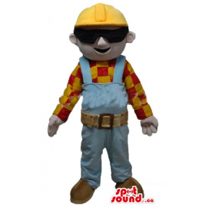 Bob Builder cartoon character Mascot costume fancy dress