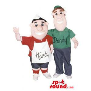 Couple Human Mascots...