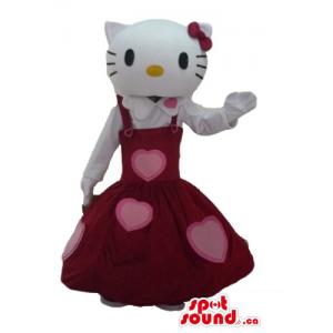Olá Kitty no vestido dos...