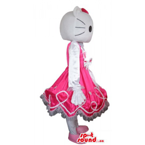 Hello Kitty in pink evening...