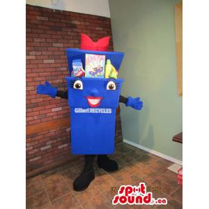 Blue Recycling Box Mascot...