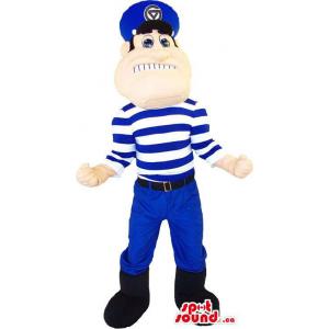 Human Mascot Dressed In A...