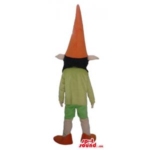 Cute dwarf in orange hat...