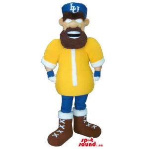 Human Mascot With A Beard...