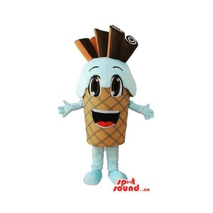 Ice cream mascot 🤤 Available www.spotsound.ca  #mascota #mascot #mascotte #disguise #deguisement #custom #costume #famous #funny #cute #event #party #birthday #vente #canada #france #world #people #spotsound #icecream #food #instagood